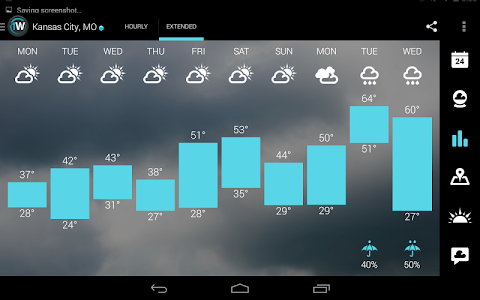 screenshot of 1Weather:Widget Forecast Radar version 3.3.0