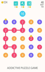 screenshot of 2 For 2: Connect the Numbers Puzzle version 2.0.6