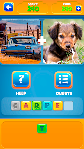 screenshot of 2 Pictures 1 Word - Offline Games version 1.0.18