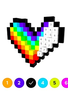 screenshot of Number Coloring – 3D No.Draw version 1.2.0
