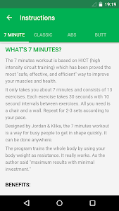 screenshot of 7 Minute Workout version 1.363.110