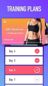 screenshot of Abs Workout - Burn Belly Fat with No Equipment version 1.1.8