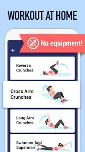 screenshot of Abs Workout - Burn Belly Fat with No Equipment version 1.2.4