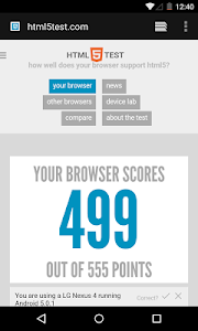screenshot of Android System WebView version 77.0.3865.116