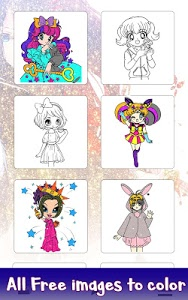 screenshot of Anime Glitter Color by Number: Adult Coloring Book version 3.0