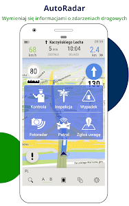 screenshot of AutoMapa GPS navigation, CB Radio, radars, traffic version 5.4.18 (2561)