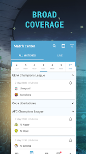 screenshot of BI - Football Live scores and results. version 1.9.0
