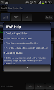 screenshot of Bandwidth ruler Pro version 1.5