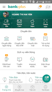 screenshot of Bankplus version 4.9.3