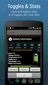 screenshot of Battery Widget Charge Level % version 4.3.8