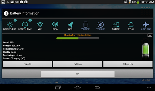 screenshot of Battery Widget version 3.3.39