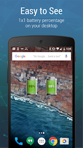 screenshot of Battery Widget Charge Level % version 4.4.7