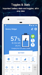 screenshot of Battery Widget Percentage Charge Level (Free) version 5.1.4
