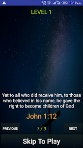 screenshot of Bible Verses version 4.1.4