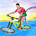 Bicycle Water Surfing Beach Stunts
