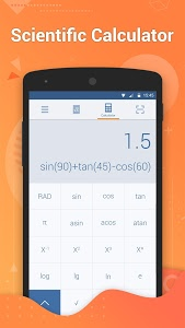 screenshot of Calculator Pro – Get Math Answers by Camera version 1.1.5
