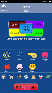 screenshot of Call Voice Changer - IntCall version 9.3