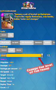 screenshot of Card Infos for Clash Royale version 2.4