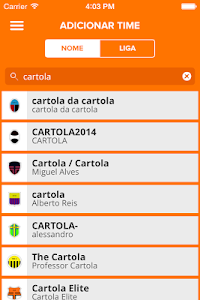 screenshot of CartolaFC version 4.5.0