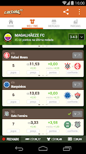screenshot of CartolaFC version 3.2