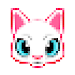 Cat Pixel Art Paint by Numbers