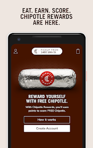 screenshot of Chipotle version 7.0.8
