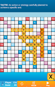 screenshot of Classic Words Solo version 2.2.13