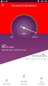 screenshot of Cleaner Memory Speed Booster version 1.0.2