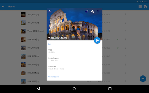screenshot of Cloud Mail.Ru version 2.3.3038