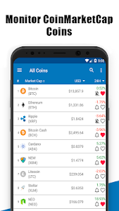 screenshot of Coin Market-Bitcoin Prices, Ethereum ,Charts, ICO version 1.19.1