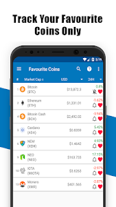 screenshot of Coin Market-Live Bitcoin Price Charts,ICO,EUR,USD version Varies with device