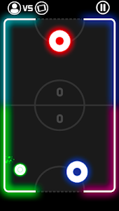screenshot of Color Hockey Challenge - Laser Neon 2 Players Game version 1.0.0