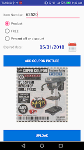 screenshot of Coupons for Harbor Freight version 1.12