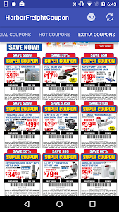 screenshot of Coupons for Harbor Freight version 1.09