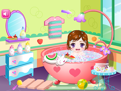screenshot of Cute Baby Bathing Game HD version 1.0.6