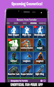 screenshot of Dances from Fortnite (Emotes, Skins, Daily Shop) version 2.3