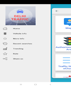 screenshot of Delhi Traffic info - Challan Vehicle Delhi version 1.1.8