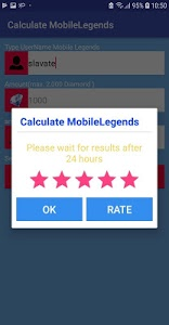 screenshot of Diamond Mobile Legends Bang Bang Calculator version 1.0