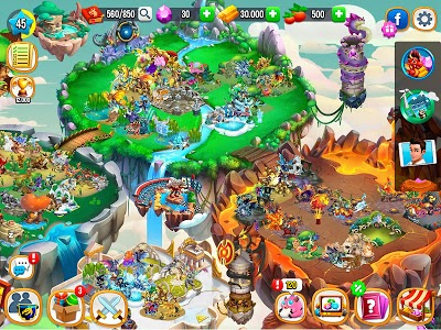 screenshot of Dragon City version 9.6.3