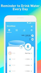 screenshot of Drink Water Reminder – Water Diet Tracker & Alarm version 3.8.5
