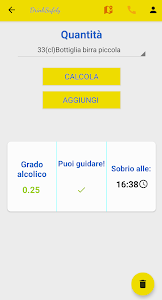 screenshot of Alcol Test-DrinkSafely version 4.6.0