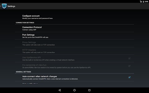 screenshot of DroidVPN - Easy Android VPN version 3.0.3.4