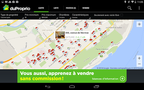 screenshot of DuProprio Mobile version 7.6.3
