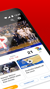 screenshot of ESPN version Varies with device