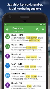screenshot of Ensiklopedi Hadits - Muslim guidance after Alquran version 3.3.3