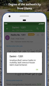 screenshot of Ensiklopedi Hadits - Kitab 9 Imam version 3.9.10