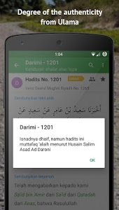 screenshot of Ensiklopedi Hadits 9 Imam version 2.1.5