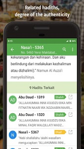 screenshot of Ensiklopedi Hadits - Muslim guidance after Alquran version 3.6.3