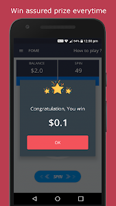 screenshot of FOME - Play Spin Game to Win Prize Money version 1.8