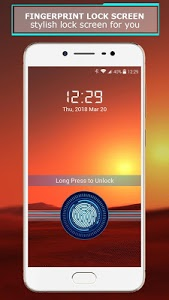 screenshot of Fingerprint lock screen version 1.4.2